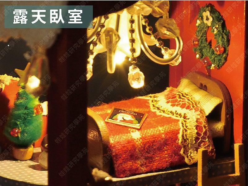 ㊣娃娃研究學苑㊣冰雪聖誕TC6 帶鐵架 DIY袖珍娃娃屋 聖誕節 聖誕老人 聖誕樹 帶燈(DIY407)