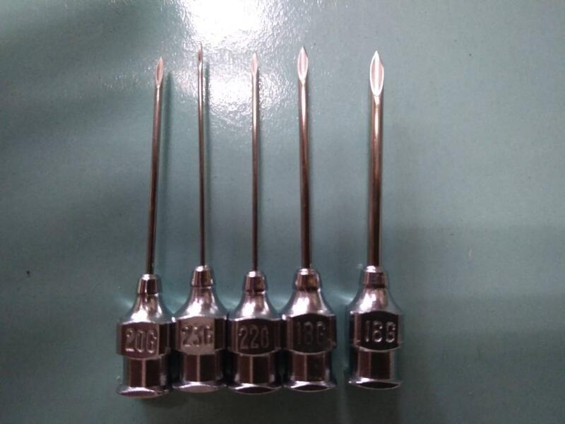 工業用 玻璃注射筒 斜口尖頭針頭 針筒 點膠不鏽鋼針頭 玻璃針筒 不銹鋼針頭 鐵針頭 三秒膠 瞬間膠 快乾膠 點膠針頭