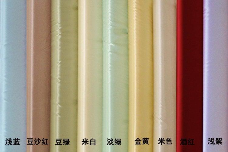 [先蠶綢莊]100%桑蠶絲面料/重磅純真絲素綢緞料/色卡參考圖