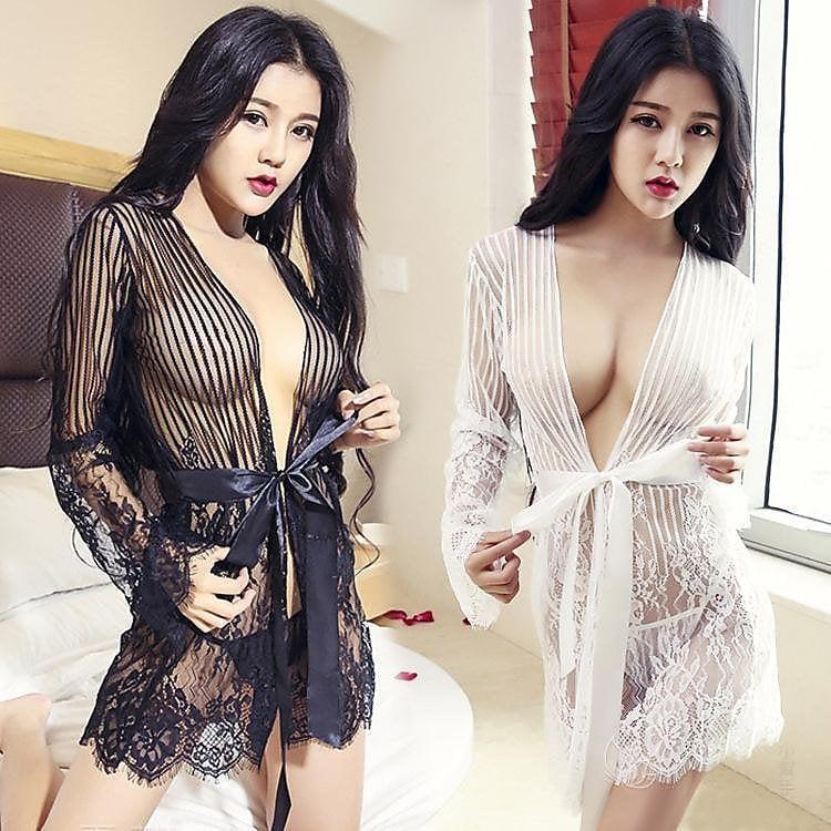 性感 睡衣 情趣內衣誘惑新款夏季睡衣套裝性感透明蕾絲歐美睡裙