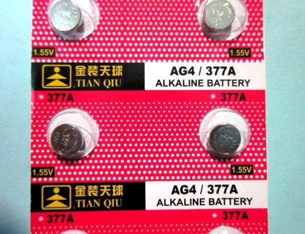 紅舖子 金裝天球 AG4/377A (與 LR626,SR626W,SR626SW,377,LR66 同尺寸)鈕扣電池