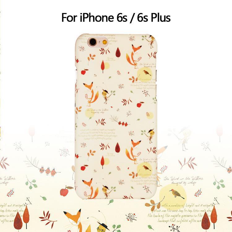 【ML膜力3C】iphone7/8-7/8 plus i6-6s/i6+/i6s+ 清新小狐狸 硬保護殼 手機殼