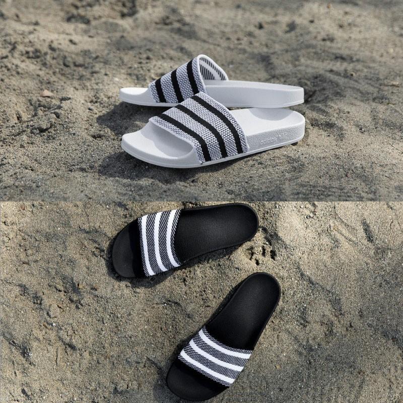 b66c7961ceba7 adidas Adilette Made Cozy Primeknit Slides 飛織潮流沙灘拖鞋情侶拖鞋 ...