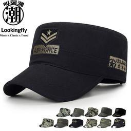 時尚軍風平頂帽 軍帽 帽子-叫阿潮【J0173】