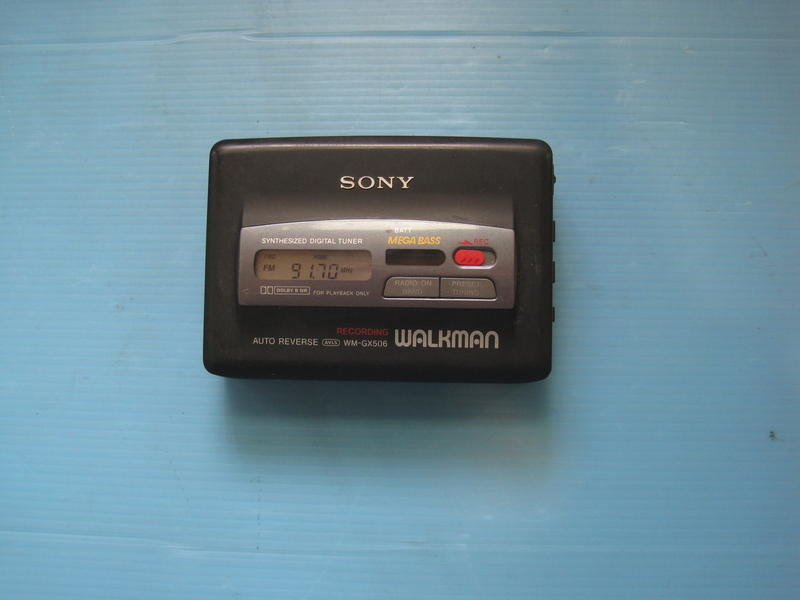 日製 SONY WALKMAN WM-GX506  卡式隨身聽 可過電.可電台 無卡帶功能馬達會轉  故障零件機