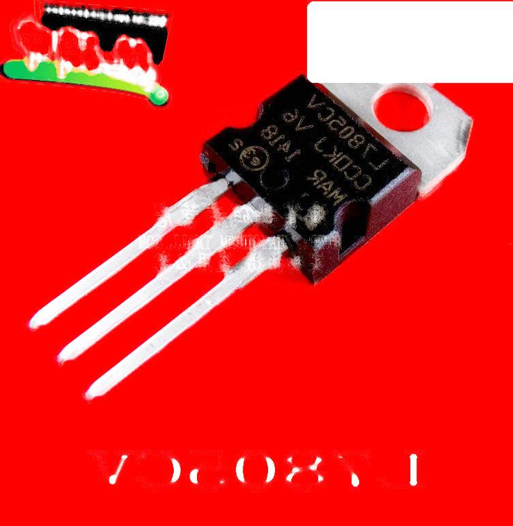 L7805CV/LM7805C  三端穩壓IC 封裝TO220 5隻 221-00666