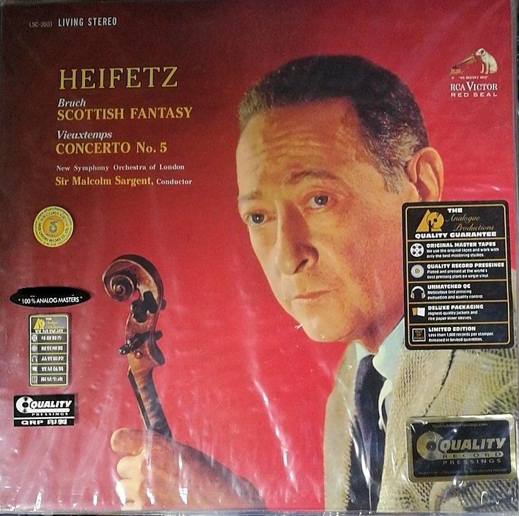 詩軒音像布魯赫 蘇格蘭幻想曲 海菲茲 LP 黑膠唱片-dp070