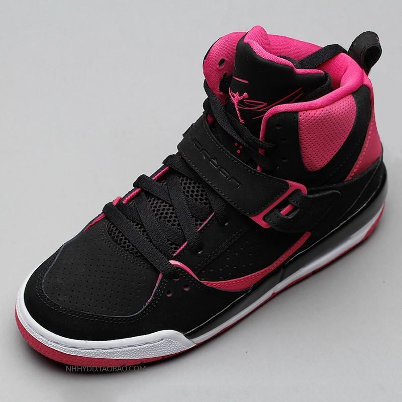 watch 9d8f4 6679c 免運7天免費退換 Nike Air Jordan Flight 45 High GS女款 黑粉 837024-008