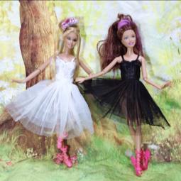 芭比 黑天鵝 芭蕾 舞裙 洋裝 晚禮服 娃娃