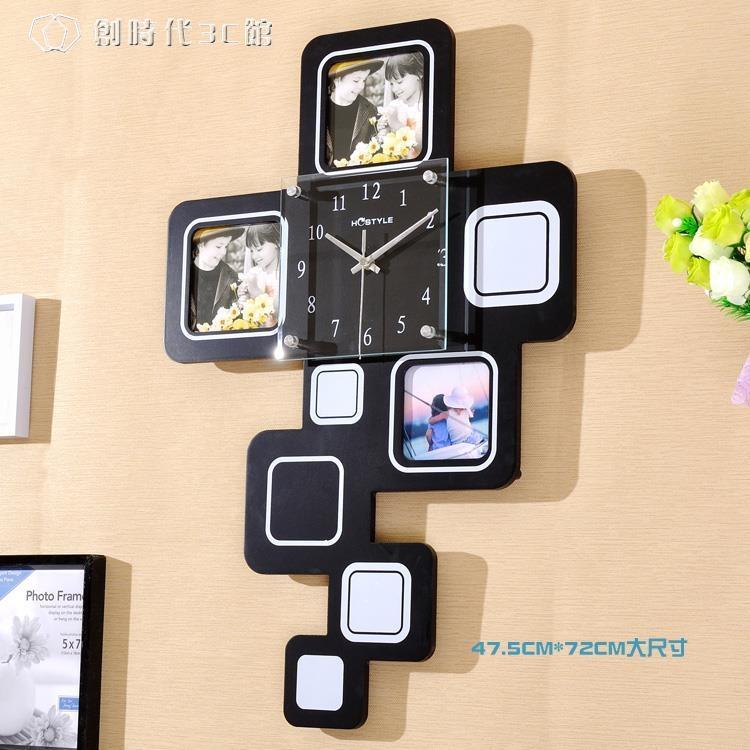 掛鐘時鐘大號相框客廳臥室裝飾現代時尚靜音北歐個性掛錶鐘錶YYS 一級棒-可開立發票 免運Al