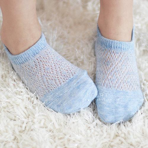 【傻米屋】透氣網眼棉感舒適船襪 童襪 兒童短襪 透氣襪 網眼襪