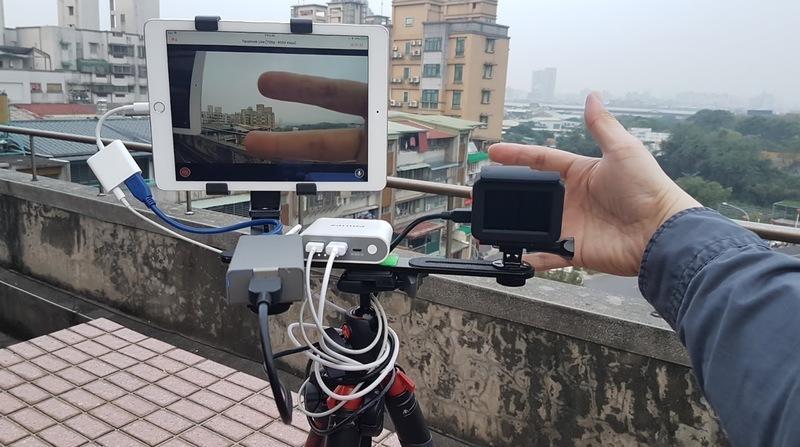 在iPhone iPad上讓運動攝影機GoPro SONY AS300 X3000行動實況直播的裝置