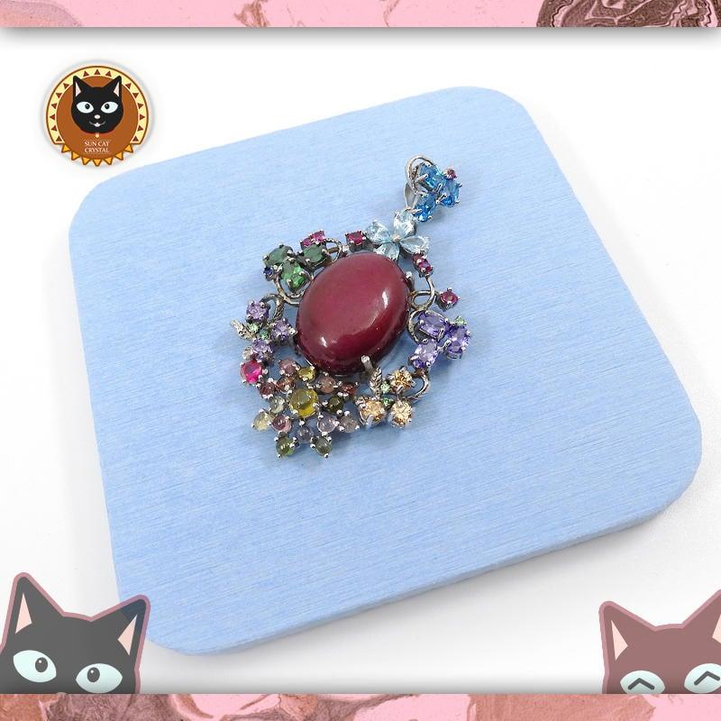 ☼§太陽貓水晶§☼【永恆紀念】設計款 七彩幻寶 紅寶石 Ruby