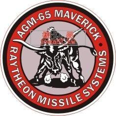 [軍徽貼紙] 中華民國空軍 AGM-65 MAVERICK 彈種章貼紙 2
