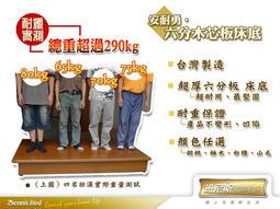 【Homebody-沙發床世家】~安耐勇~超堅固台製六分木芯板床底/床架/床板-6尺雙人加大超勇!