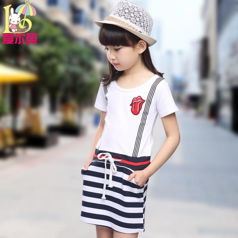 童裝女童純棉連衣裙夏裝10大童女裝夏季12女孩韓國兒童裙子15歲13