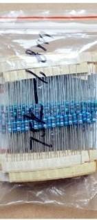 [二手拆機][含稅]1/4W五色環電阻包75K-1.8M 常用電阻 24種每種10個 S1