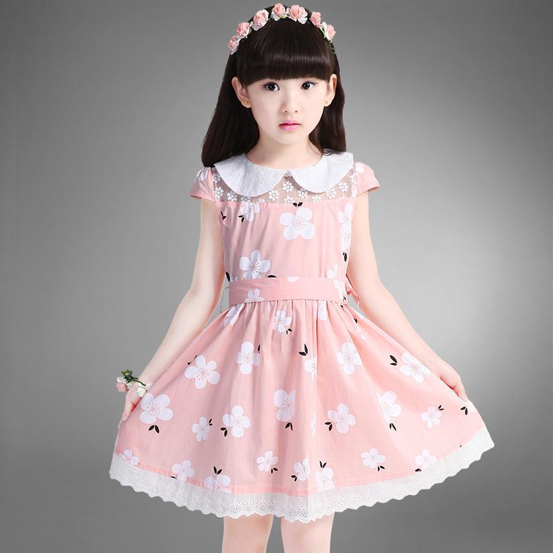 夏季韓國碎花純棉兒童公主連衣裙小學生女孩裙子大童女童夏裙夏裝