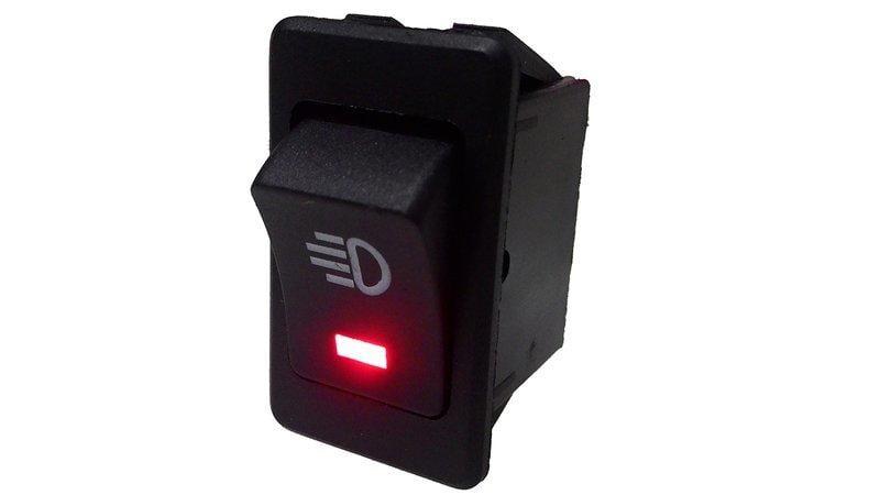 【鑫榮光電】- 長型 方型霧燈開關 汽機車 電源開關 帶燈開關 切換開關