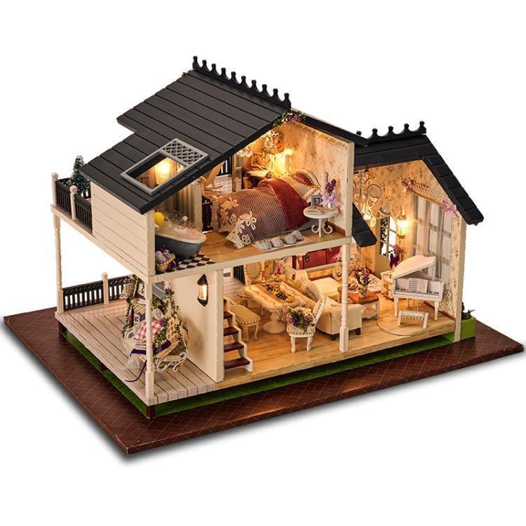 智趣屋diy小屋普羅旺斯手工拼裝房子模型別墅玩具創意生日禮物女ATF