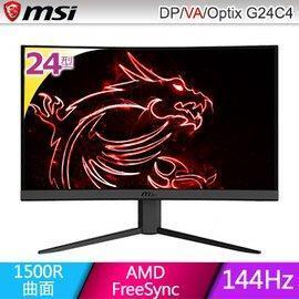 MSI Optix G24C4 24型 VA曲面電競螢幕