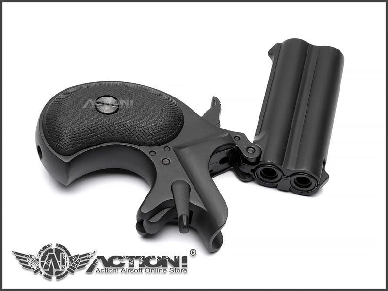 【ACTION!】MAXTACT - DERRINGER 掌心雷 瓦斯手槍 (黑色)《現貨》