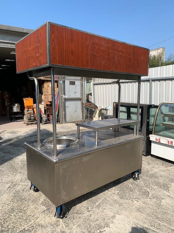 二手攤車 / 白鐵餐車 / 移動式台車/ 不鏽鋼工作台 / 正304白鐵厚料