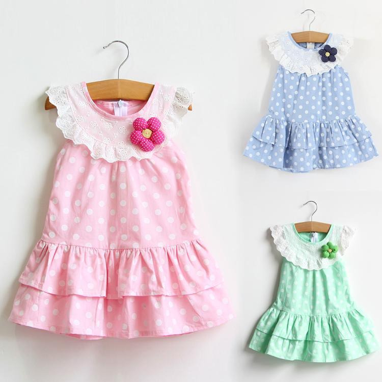 2016夏季韓版純棉女童連衣裙童裝裙子夏裝短袖小孩裙子兒童裙子