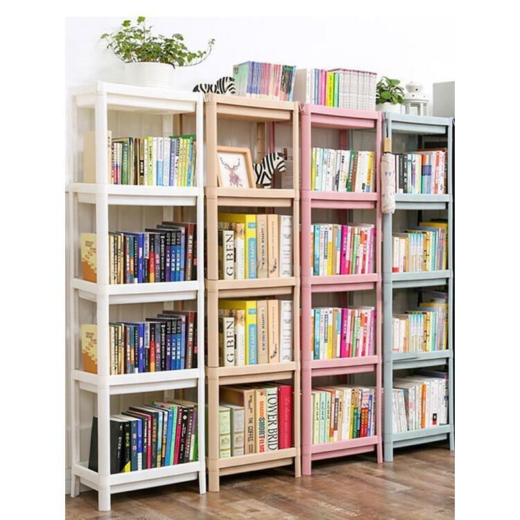 簡易書架落地簡約置物架桌面宿舍桌上收納儲物柜多功能夾縫收納架