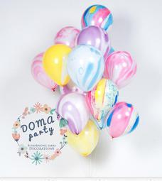 <豆媽派對雜貨>特殊氣球 瑪瑙氣球琉璃珠瑪瑙彩繪大理石圓形氣球 親子館 週歲佈置派對佈置氣氛營造佈置
