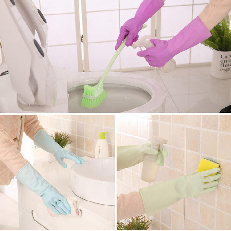 PS Mall 防水橡膠乳膠薄款洗碗手套【J050】