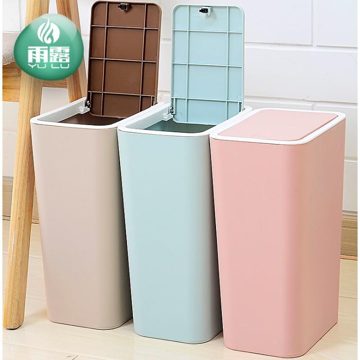 創意衛生間垃圾桶家用廁所廚房客廳大號帶蓋塑膠歐式筒箱有蓋紙簍