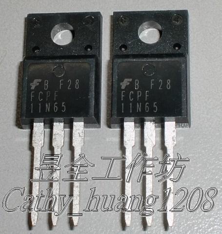 場效電晶體 (FAIRCHILD FCPF11N65 ) TO-220F (N-CH) 650V 11A 0.38Ω