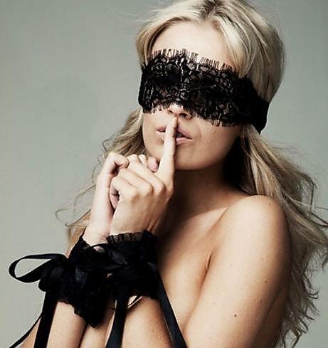 318百貨-情趣內衣性感蕾絲眼罩手環套裝眼睫毛蕾絲眼罩9291