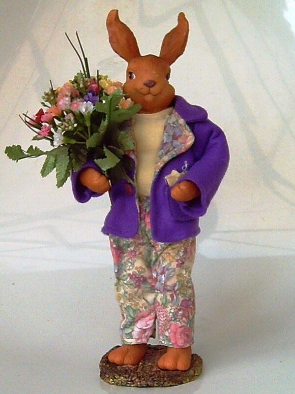 典藏鄉村布偶系列:立式紳士公兔