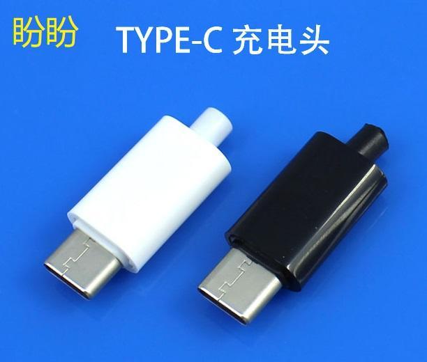 【盼盼673】 TYPE-C to USB2.0 焊線式 充電 公頭  Type C 公頭 SMT貼片 DIY 維修必備
