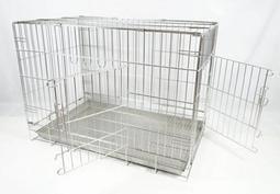 《優寵物》2.5尺不銹鋼/不鏽鋼(304#級)《雙門活動折疊式》白鐵狗籠/貓籠/兔籠/寵物籠/犬用品-台灣製造-