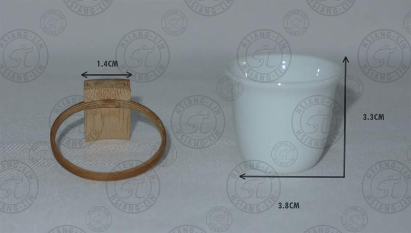 ⌦缺貨⌫*中華鳥園*繡眼飼料瓷杯組 竹籠 竹圈