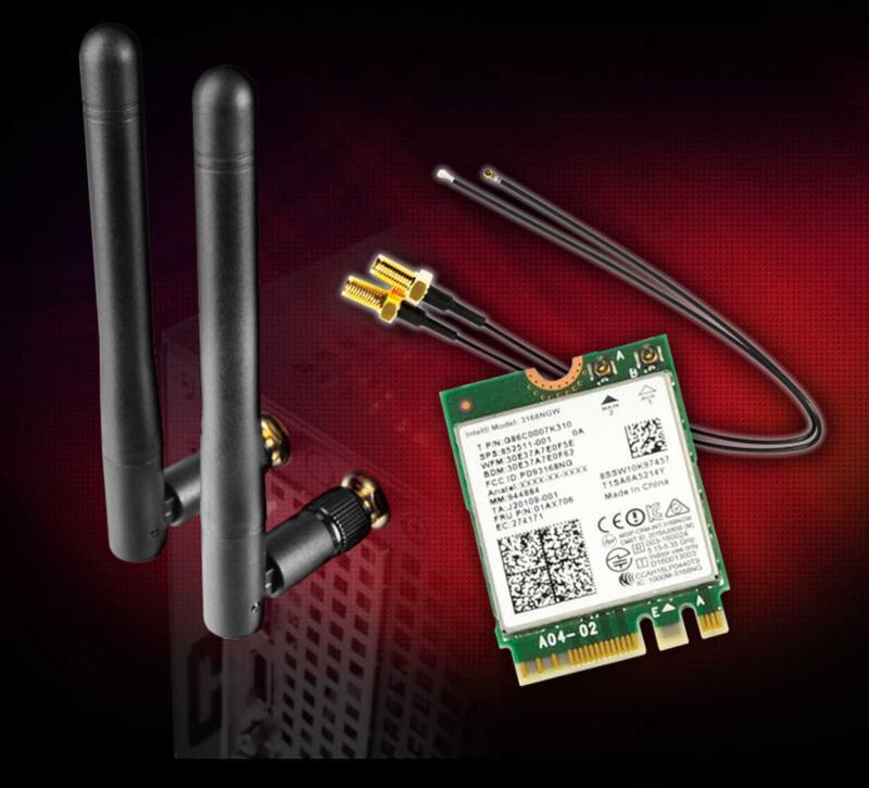 華擎 DeskMini WiFi+BT4.0無線模組 (M.2 Key E 2230) A300/110/310通用