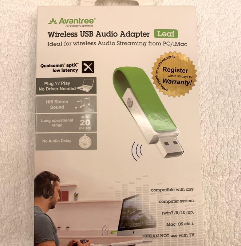 全新Avantree Leaf 低延遲USB藍牙音樂發射器 (BTDG-50)