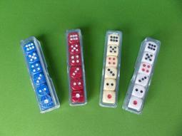 {坎吉鋪}14mm單面色子/光頭骰子/藍 白 紅 米4種顏色/台灣本土生產製造