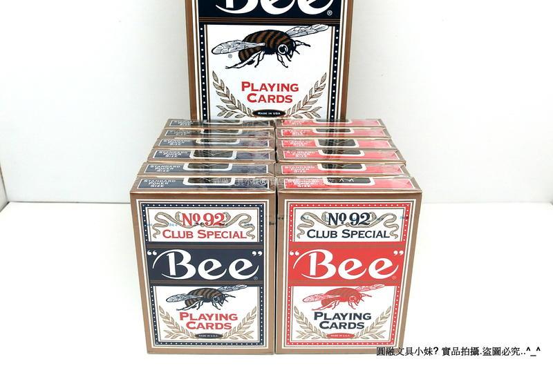 """【圓融量販】""""Bee"""" 美國 92蜜蜂牌 世界銷售第一品牌 (12付入) 92 撲克牌 比賽用牌 桌遊"""
