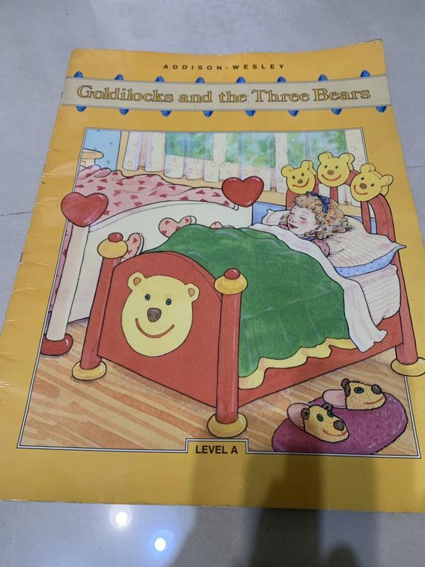 **超大本英文繪本童書Big Book Goldilocks and the Three Bears七成新