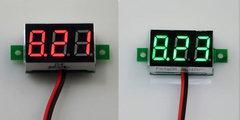 [含稅]微型數顯數位直流電壓表4.5-30v電動車汽車載、穩壓電源表頭紅色