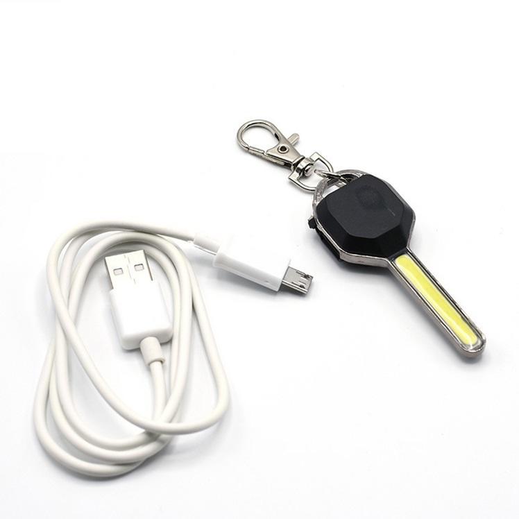 (充電式)鑰匙造型COB燈 便攜式迷你小夜燈 充電式迷你造型燈 照明燈 禮品 交換禮物