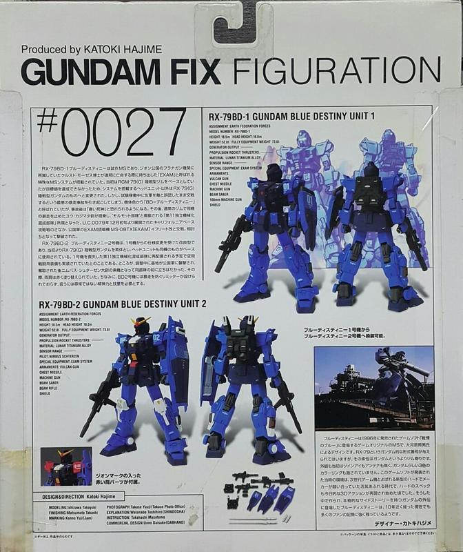 【多金魚】全新 FIX GFF #0027 RX-79BD GUNDAM BLUE DESTINY 蒼藍命運 鋼彈
