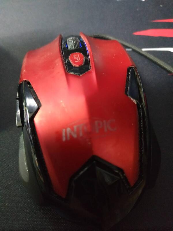 只此一個 電競質感美型 intopic UFO-MS-080 USB光學滑鼠 可過電 故障品 所有按鍵無反應