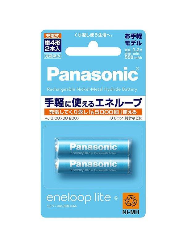[日本]Panasonic eneloop lite 低自放四號充電電池 輕量版 2入組 BK-4LCC/2
