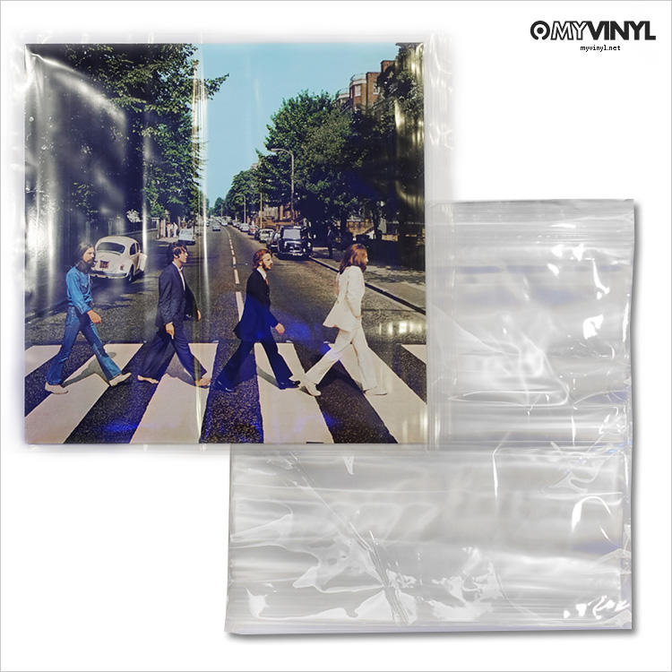 [黑膠唱片同好會] 黑膠唱片 夾鏈式 厚質 外套 100入 / 唱片 保護套 外袋