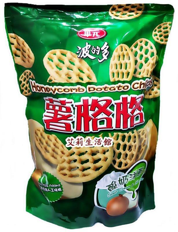 【艾莉生活館】COSTCO HWAYUAN 華元 波的多 薯格格-酸奶洋蔥口味 加量包(500g/包)《㊣超取1~4包》
